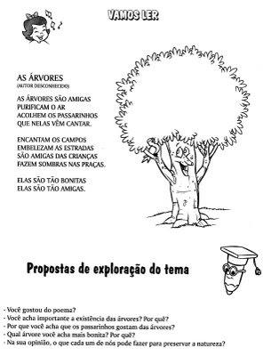 Blog Ferramenta Pedagógica Atividades Para O Dia Da árvore