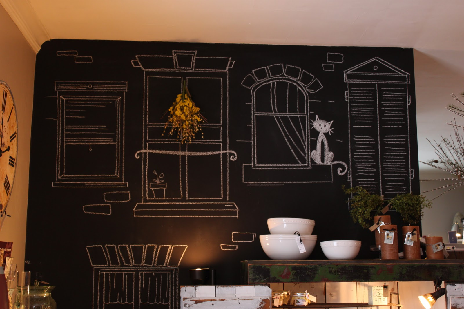 how to turn a wall into a chalkboard