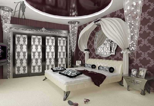 Interior and exterior design luxury and glamour bedroom - Art deco decorating ideas ...