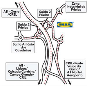 mapa ikea loures Maior Ikea ibérica abre a 25 de Maio em Loures   A Defesa de Faro mapa ikea loures