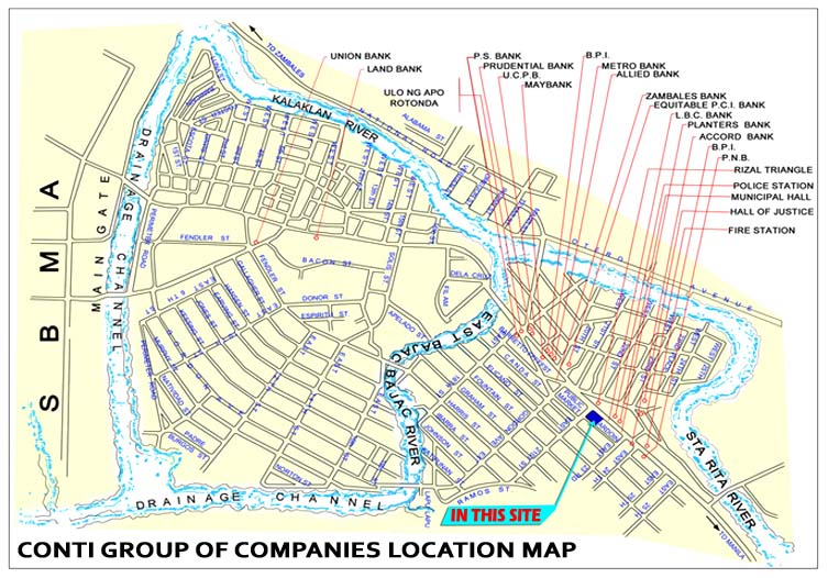 Olongapo Philippines Map.Conti Group Philippines Location Map