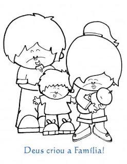 Desenhos Da Familia Para Colorir