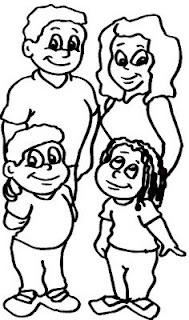 Ministerio Gospel Infantil Desenhos Da Familia Para Colorir