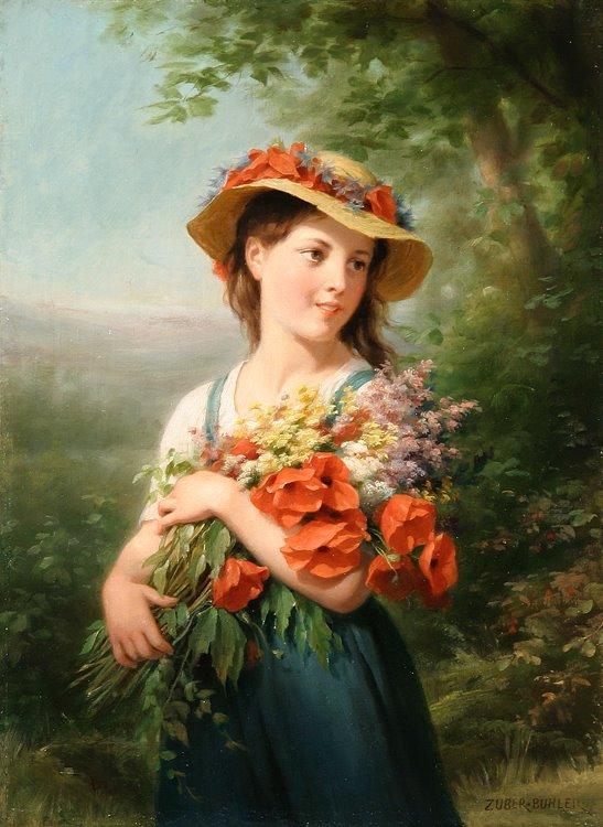 [fritz_zuber_buhler_b1235_jeune_fille_au_bouquet_de_fleurs_des_champs.jpg]