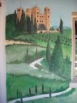 Part of a large mural of Scenes from Italy