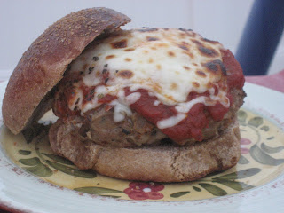 Turkey Bolognese Burgers on Toasted Garlic Buns