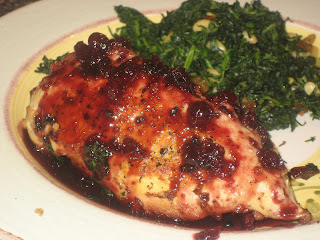Pistachio Stuffed Chicken with Lingonberry Glaze