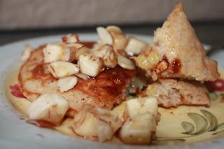 Whole Wheat Banana-Nut Sour Cream Pancakes