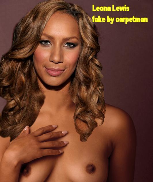 lewis nude fakes Leona