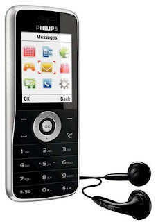 Philips E100, a low-end music phone