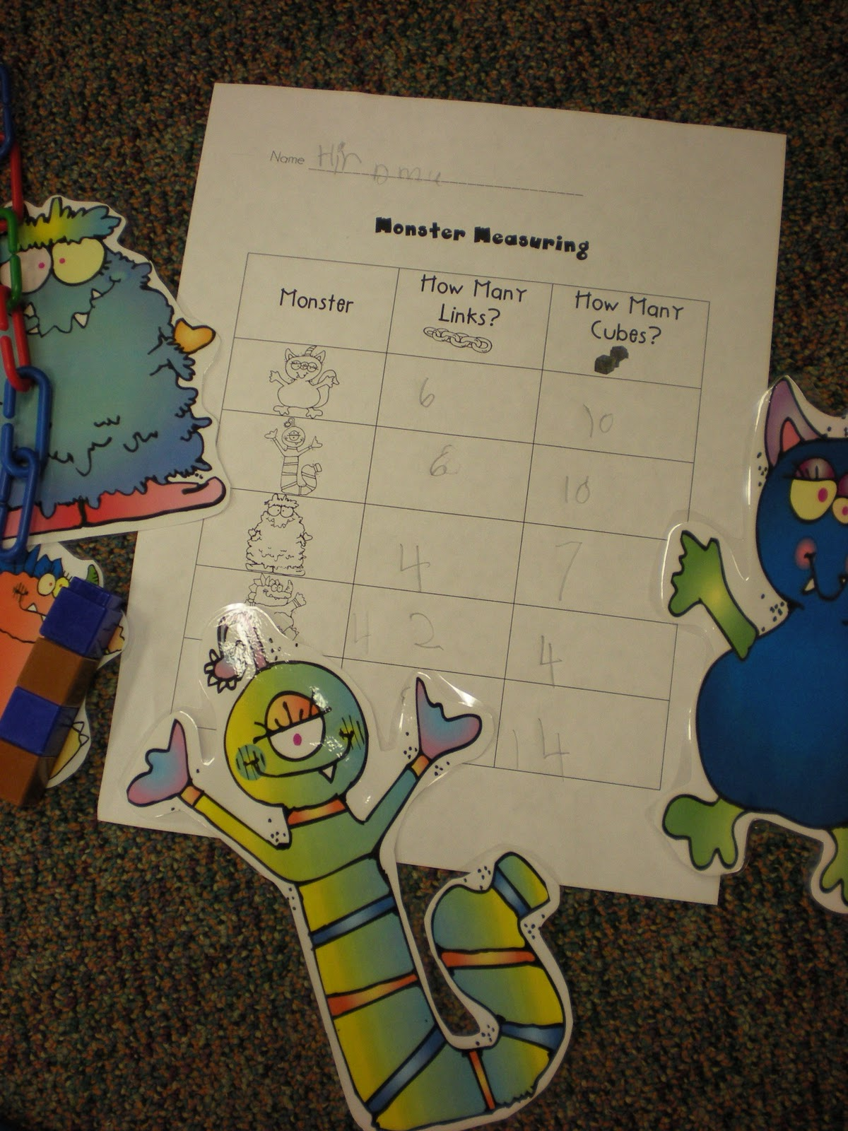 Growing Kinders Math Centers
