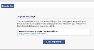 Automatic Importing of RSS Feeds on Facebook