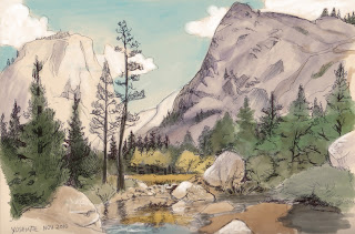 Yosemite sketch