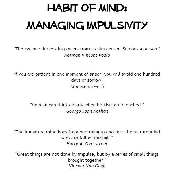 Impulse Control Quotes Quotesgram