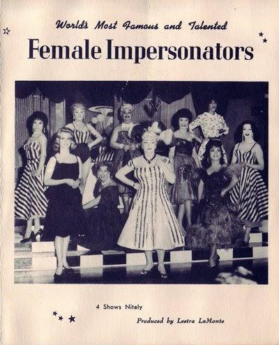 Femulate Quot New Quot Female Impersonator Ephemera