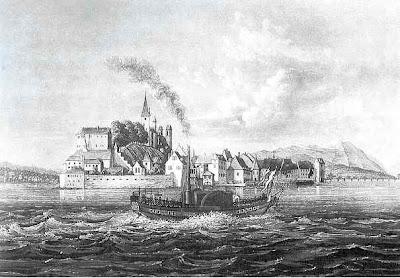 Erstes Dampfschiff