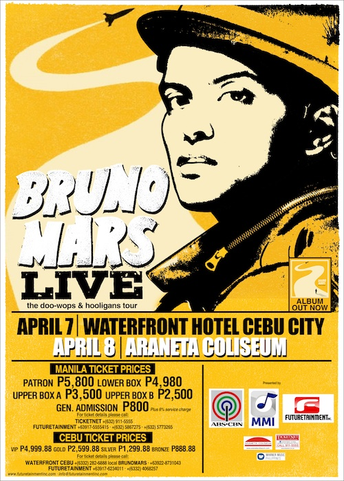bruno mars concert philippines manila and cebu the official bruno mars concert poster with. Black Bedroom Furniture Sets. Home Design Ideas