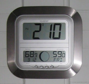 My new favorite gadget, clock with indoor & outdoor temps!