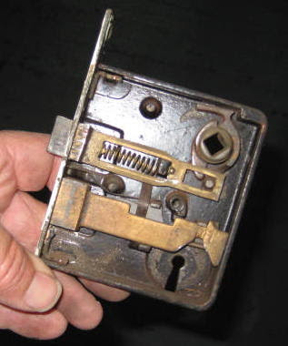 Old fashioned lock mechanism