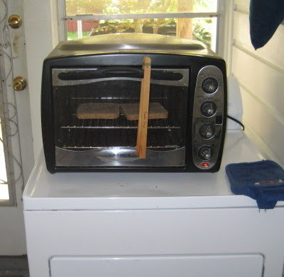 A handy spot for my toaster oven.