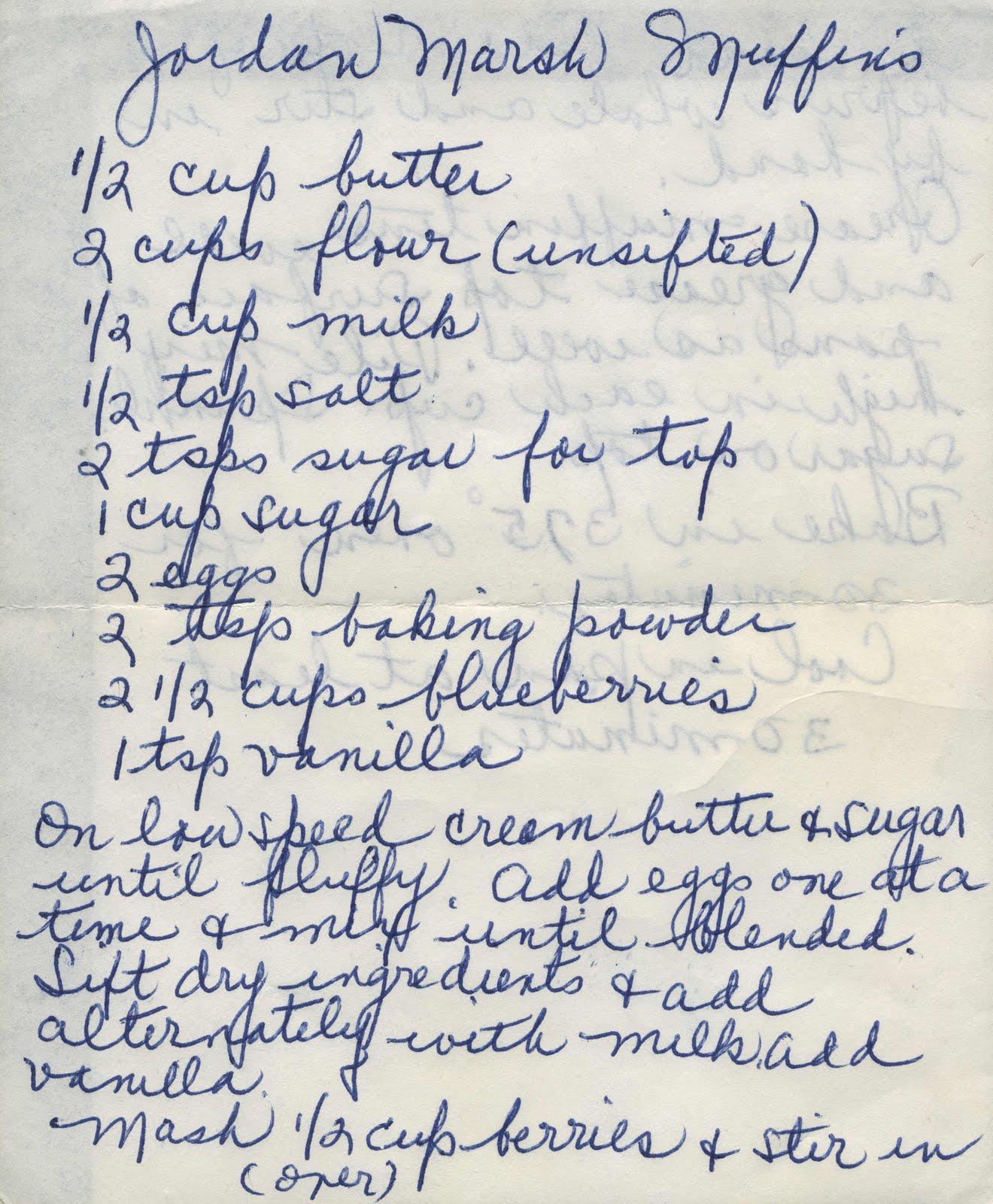 Blueberry Muffin Recipe Jordan Marsh