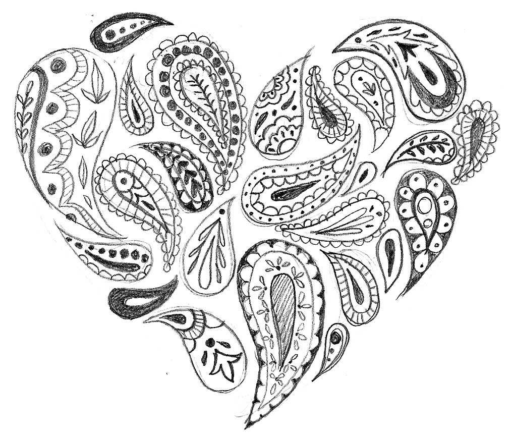 robyn's art blog: Paisley Heart