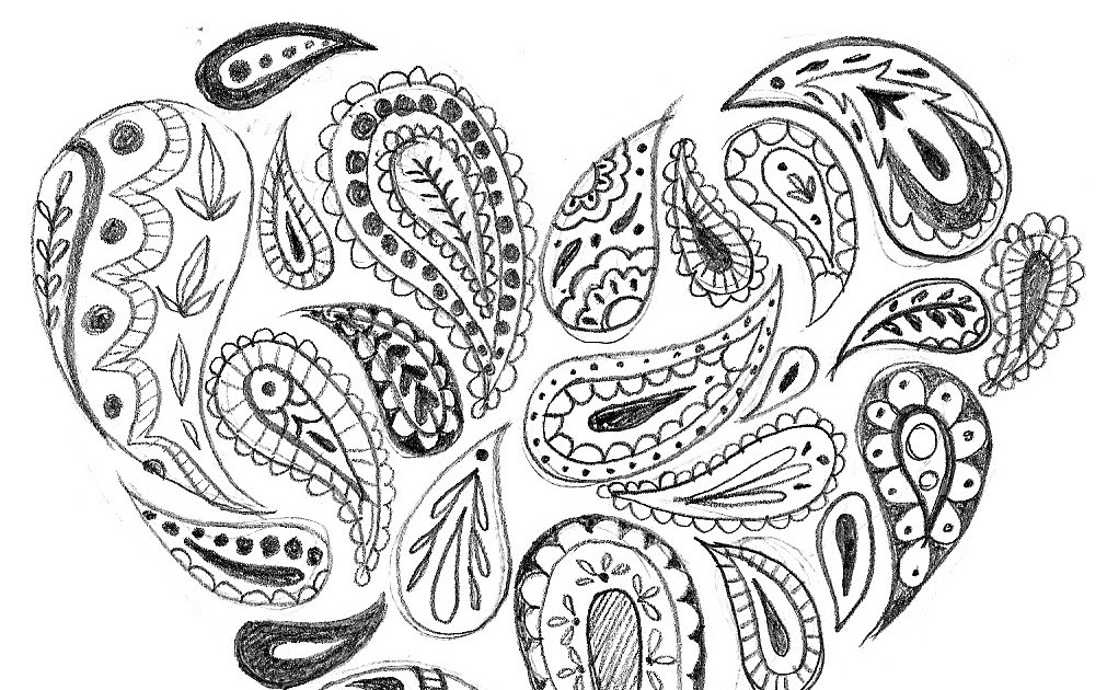 robyn's art blog: Paisley Heart