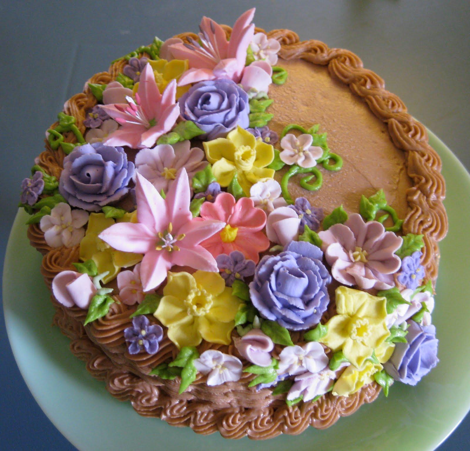 Stuffed Cakes Floral Basket Cake