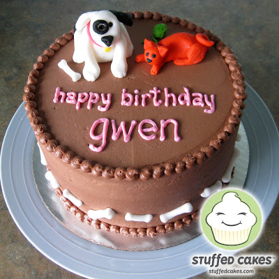 Stuffed Cakes Dog Amp Cat Birthday Cake