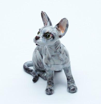 Madamepommcustomorder Tia Sphynx Cat Figurine