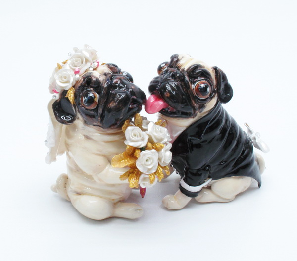 Madamepommcustomorder Lilqtgenn Pug Wedding Cake Topper