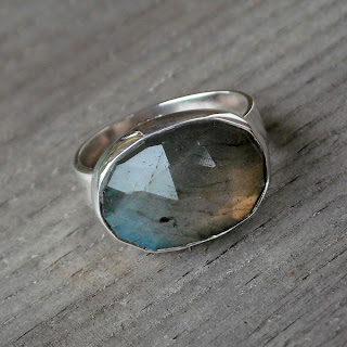 recycled labradorite ring