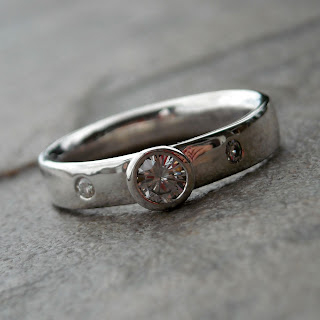 moissanite silver ring