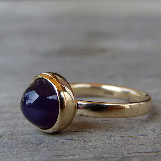 gold chalcedony ring