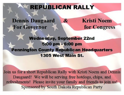 SDGOP offers free food for Daugaard and Noem voters