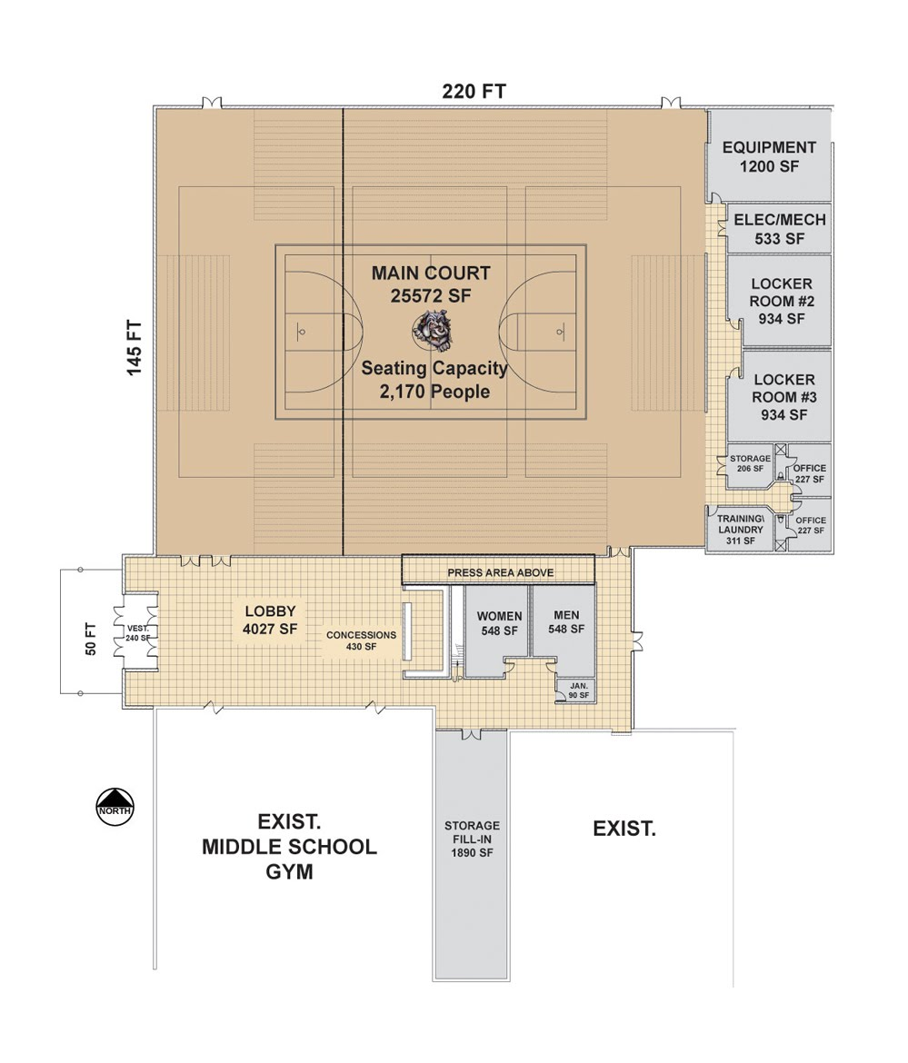 Gym Plans Floor Plan: Madville Times: Madison New Gym: Bigger Than 2007 Proposal