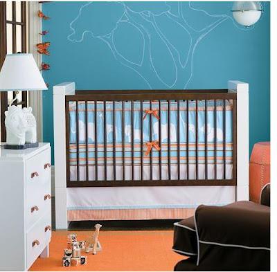 Custom Nursery Art By Kimberly Cool Color Combo Orange