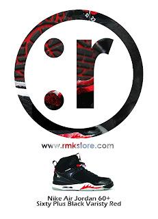 half off fac77 ff548 Nike Air Jordan 60+ Sixty Plus Black Varisty Red 364806-061
