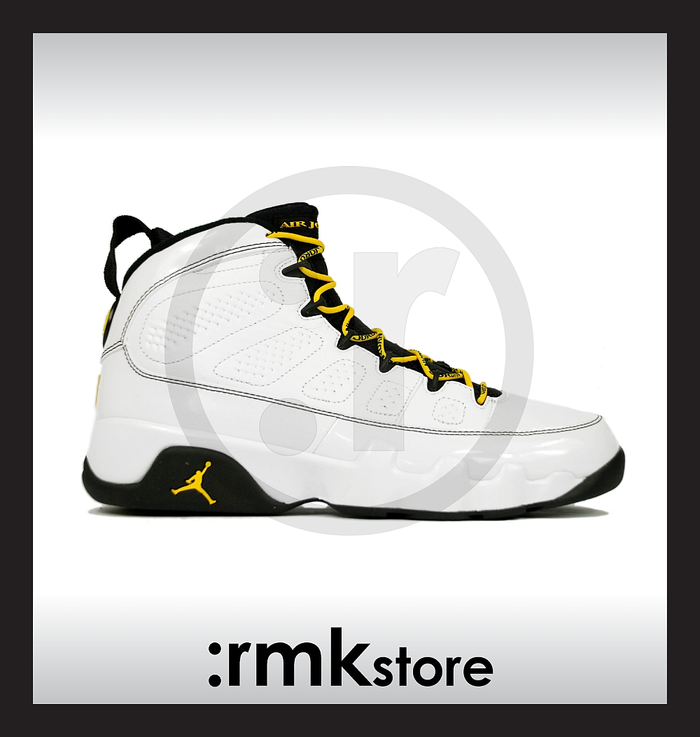 buy online a2160 eeabf Nike Air Jordan 9 IX Retro Quai 54 Citrus Dark Army 302370-105