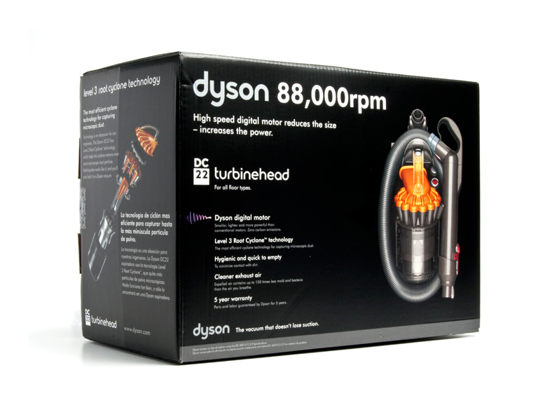 Dyson Dc22 Turbinehead Canister Vacuum Specification