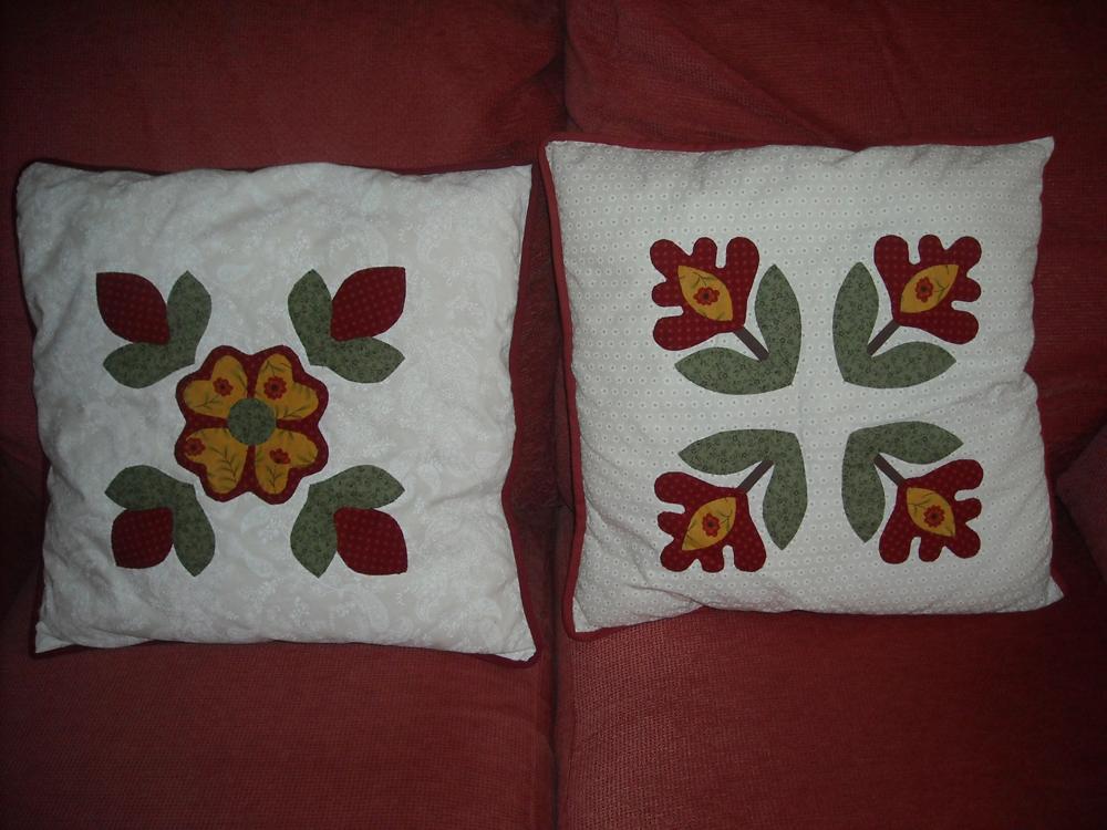 Florguindilla patchwork quilts mis nuevos cojines para - Cojines para el sofa ...