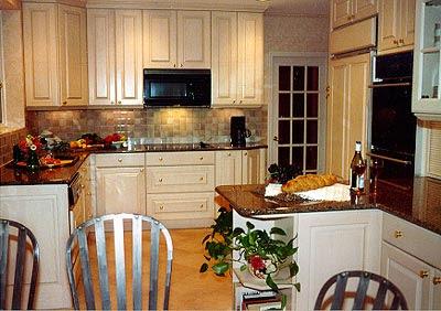 Interior Press: Traditional Designs-New Idea - Black Kitchen Cabinets And Cream Floor Tiles