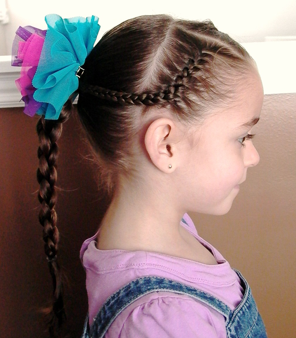 Little Girls Hairstyles  How to use a 4 strand braid ...