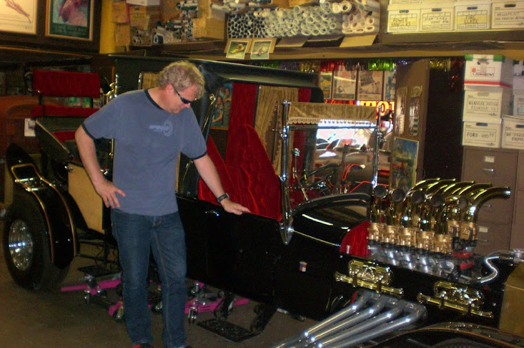 THE MUNSTER'S Coach at GEORGE BARRIS' KUSTOM SHOP