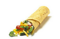 Ramadan Menu: Veggie Wrap Roll.