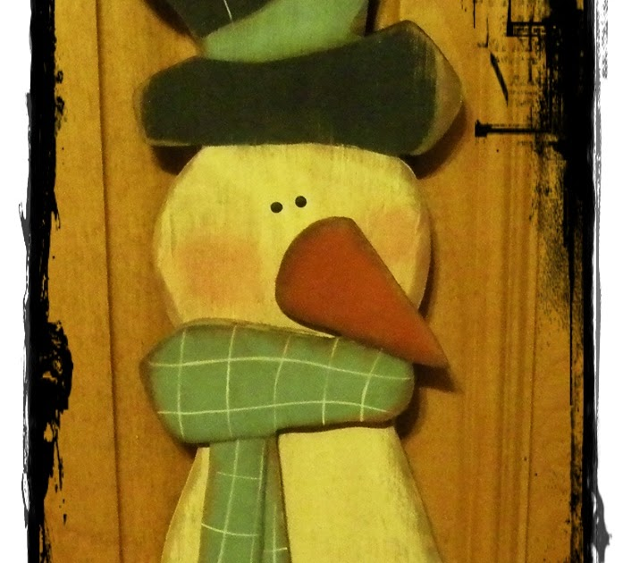 Marie S Country Woodcrafts Tall Skinny Snowman