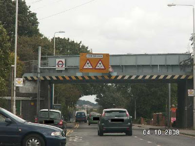 the new signs at Fairlop bridge
