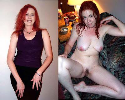 mature couple dressed undressed