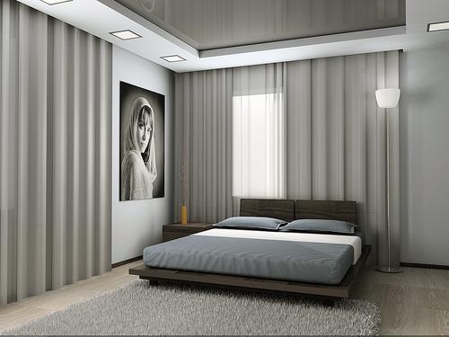 Modern Bedroom Interior Design with Lighting Fixtures ...