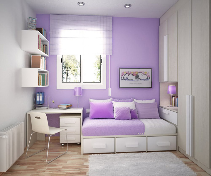 Interior Decorating Color Ideas: Cool Inspirations For Violet Color Interior Design